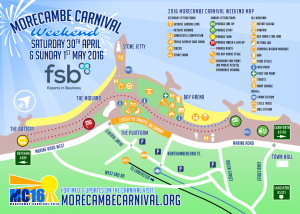 Morecambe Carnival 2016 Map
