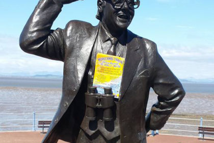 Eric Morecambe with MC16 Flyer