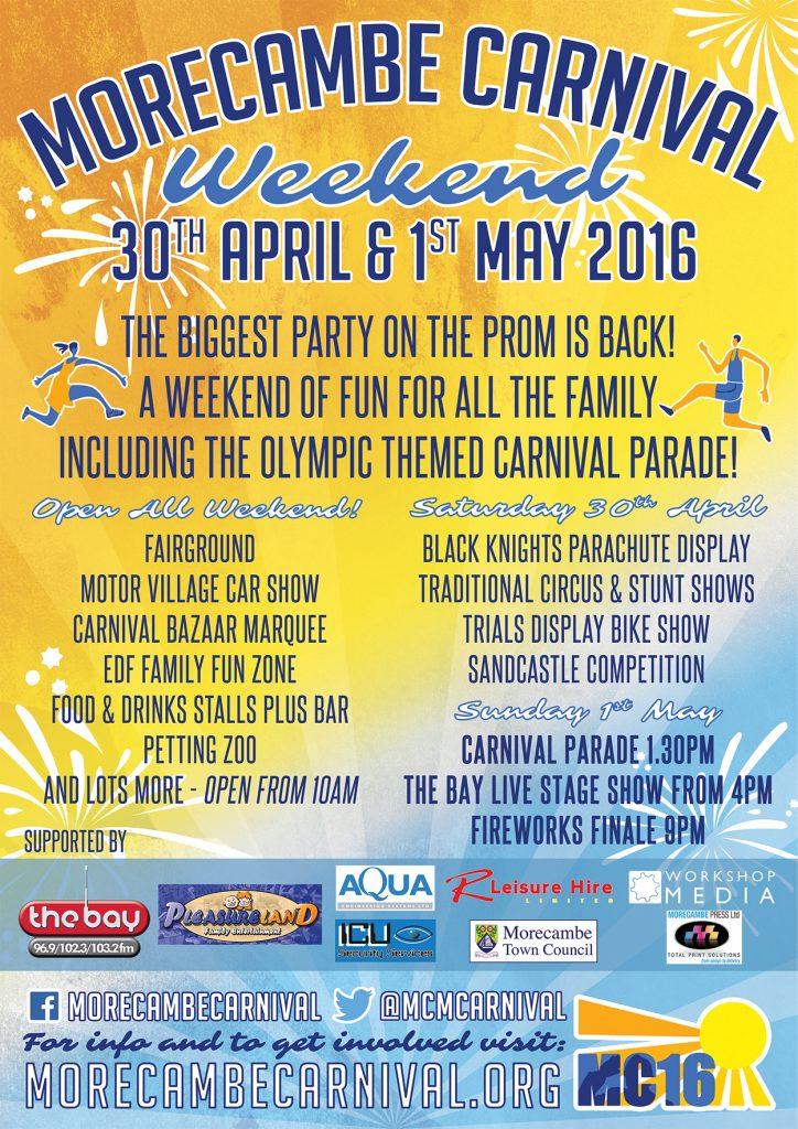 2016 Morecambe Carnival Poster
