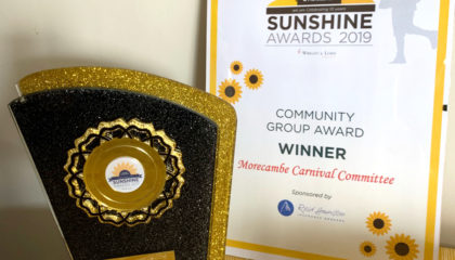 Morecambe Carnival Sunshine Awards Community Group Award Winners 2019